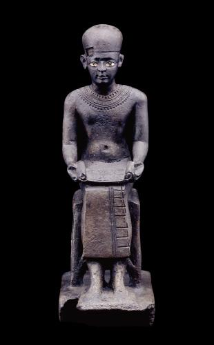 Вельможа Имхотеп, изображённый как писец.