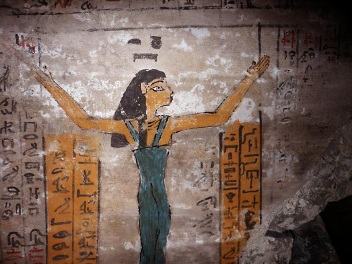 Богиня Нут в гробнице Джехути (TT 11). Фото - J.M. Galán