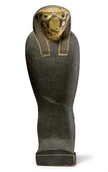 Деревянный позолоченный саркофажец для сокола