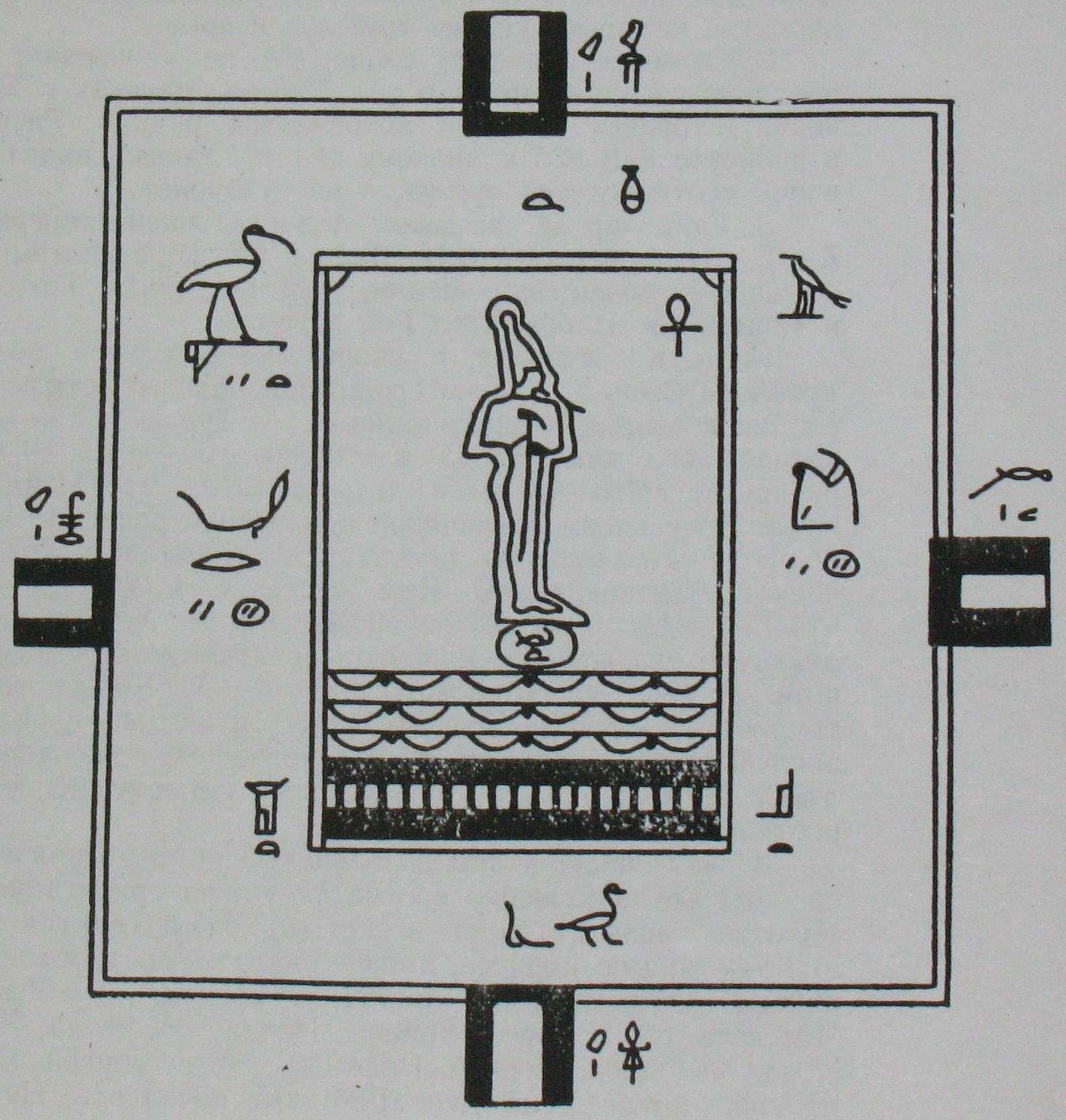 Магический план Дома жизни на папирусе Сальт.