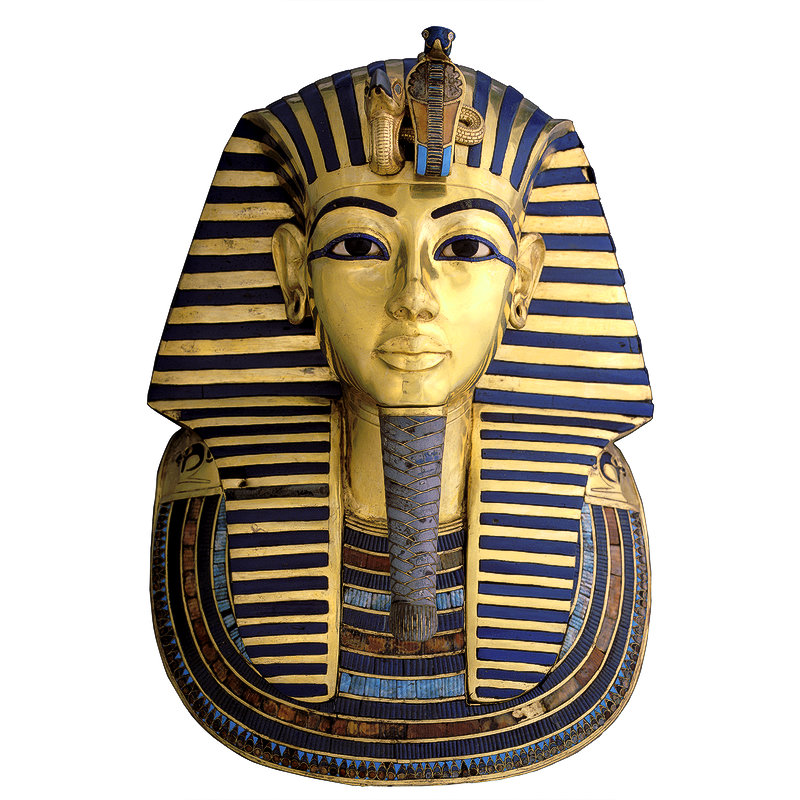 for King tut mask template