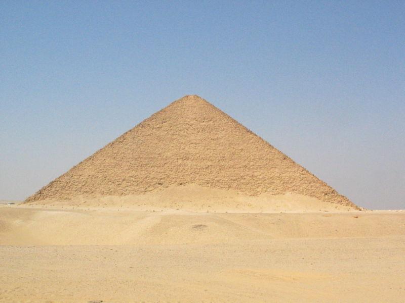 Розовая пирамида царя Снофру в Дашшуре