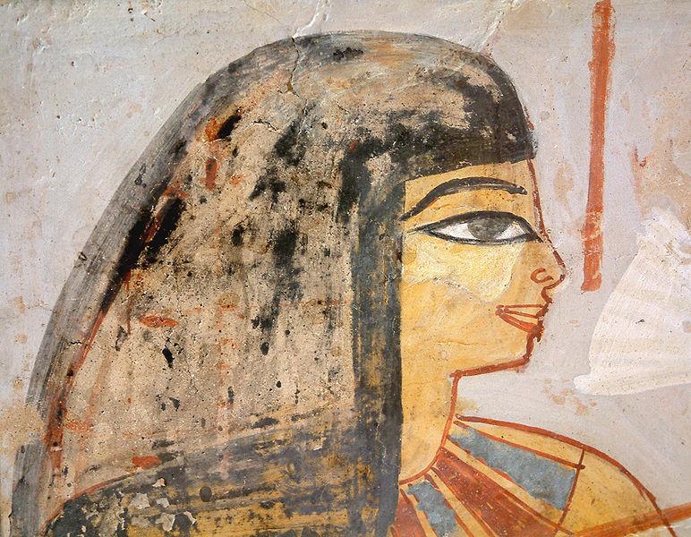Фрагмент гробничной росписи из Лувра (Новое царство)
