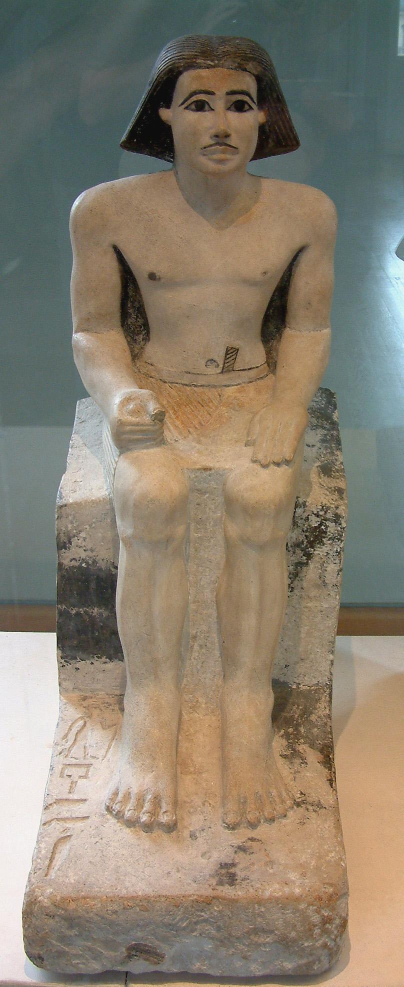 Скульптура домоуправителя Кети, Лувр, Старое царство