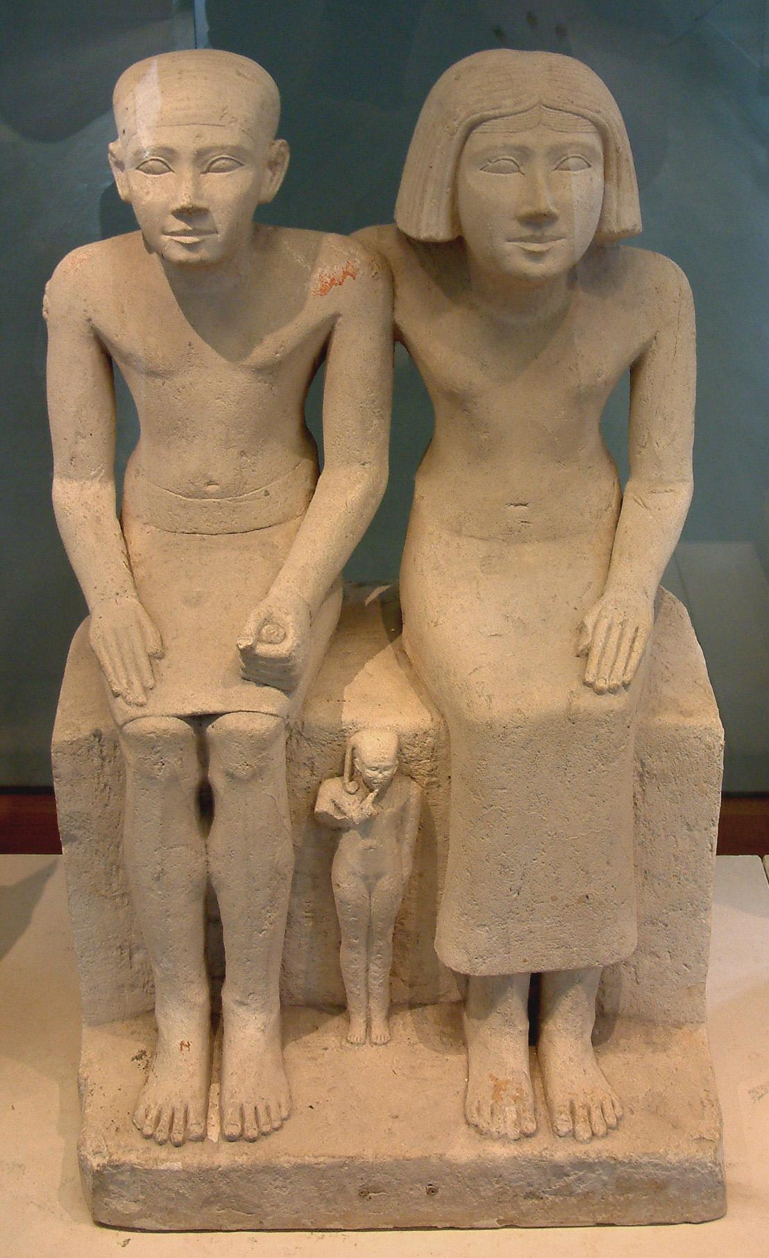 Скульптура супружеской пары, 4 царский дом, Лувр
