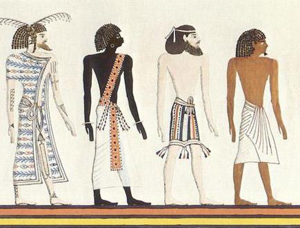 Египтянин, ливиец, азиат, эфиоп