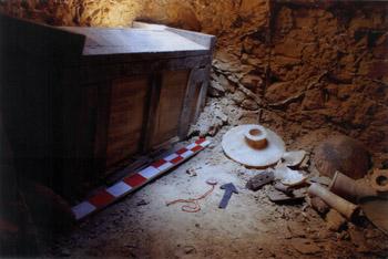 Одна из гробниц, открытых в Лахуне
