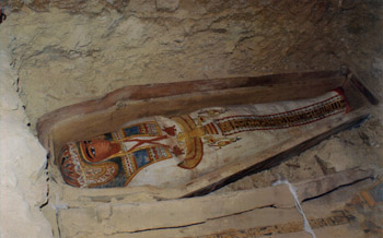 Саркофаг из гробницы в Лахуне