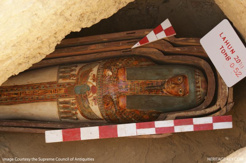 Одна из найденных мумий в Лахуне